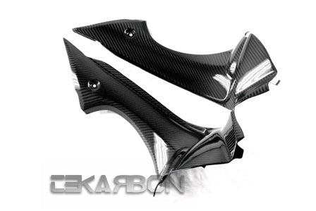 2013 - 2014 Triumph Daytona 675 Carbon Fiber Air Intake Covers