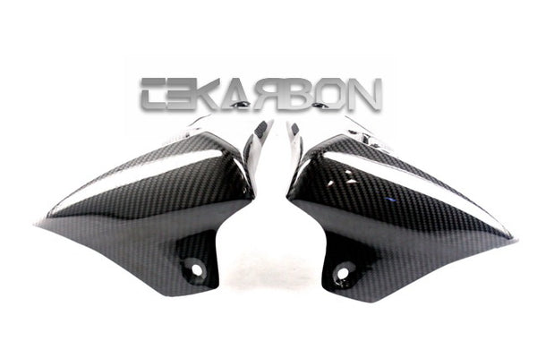 2008 - 2010 Triumph Speed Triple Carbon Fiber Radiator Covers