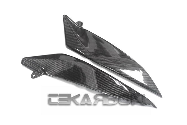 2004 - 2006 Yamaha R1 Carbon Fiber Side Tank Panels (Twill)