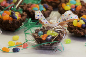 Easter (Chocolate Rice Krispy Eggs filled with Jelly Beans)