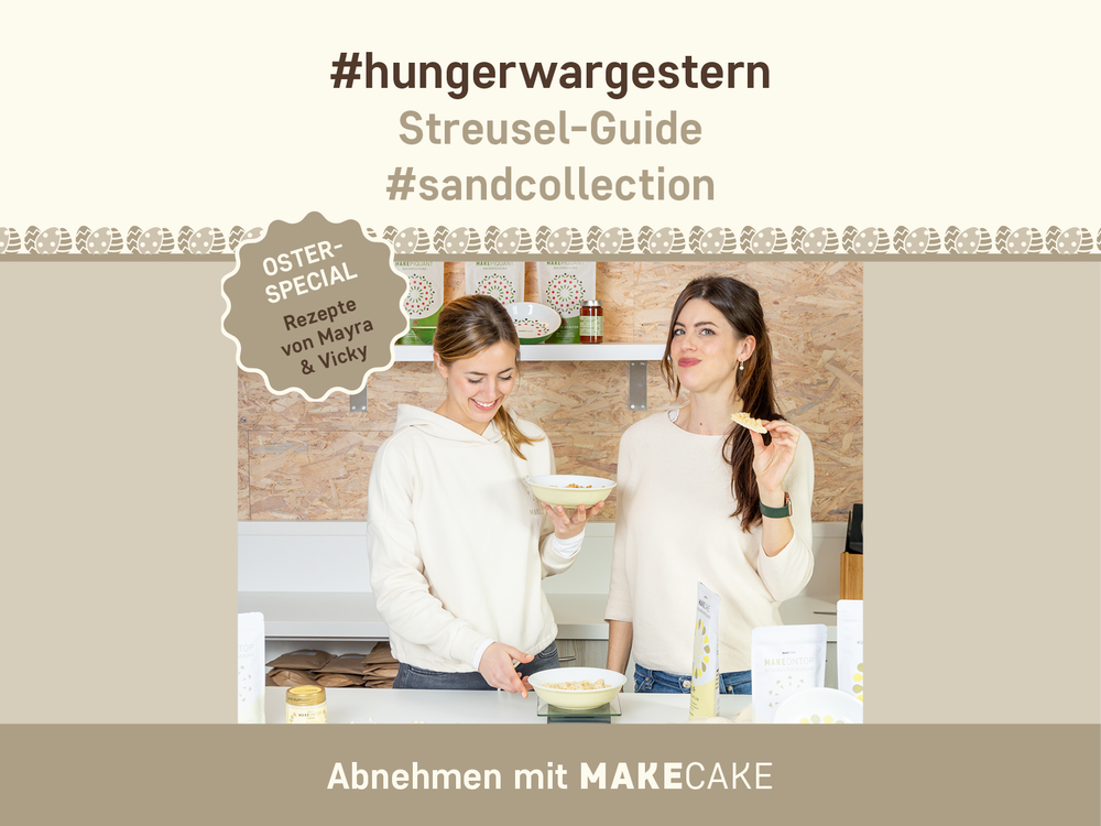MAKECAKE Streusel-Rezeptplan #sandcollection