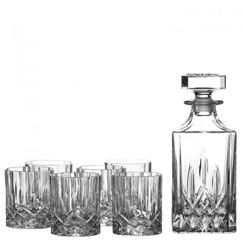 Royal Doulton Decanter Set: Decanter and 6 Tumblers
