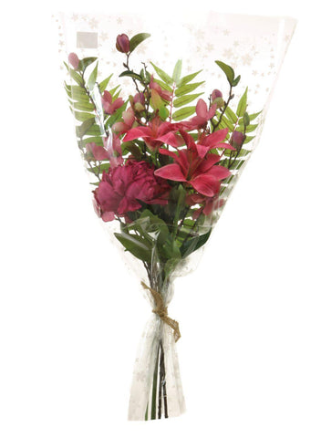 Mixed Lily & Magnolia Bouquet - Hot Pink