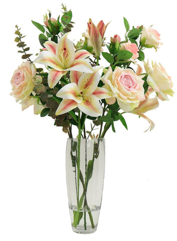 Rose and Lily Arrangement - Pink