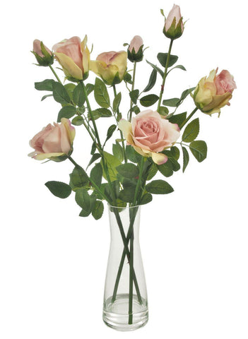 Serenity and Beaker Vase Arrangement - Dusty Pink