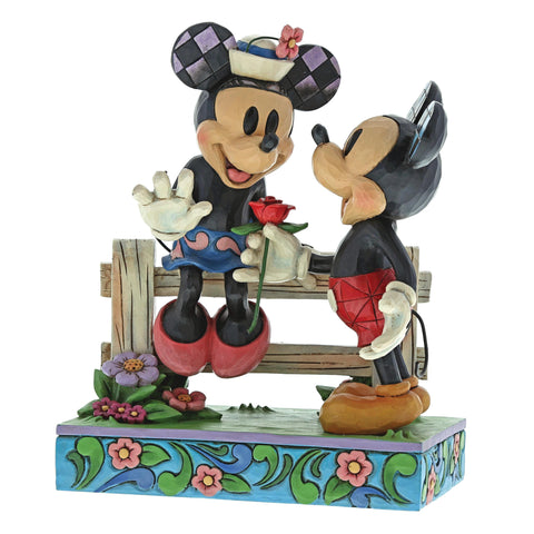 Blossoming Romance (Mickey Mouse and Minnie Mouse Figurine)