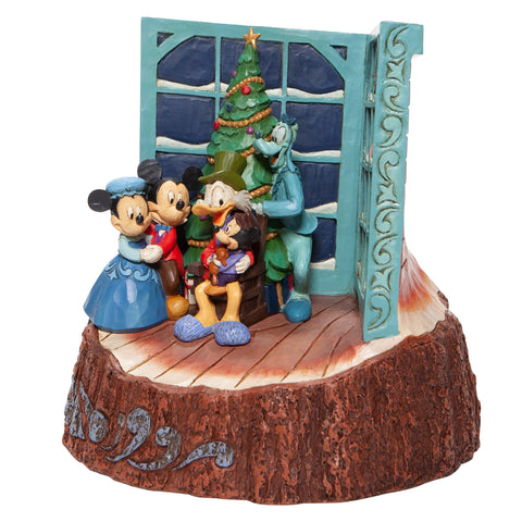 Carved by Heart Mickey Mouse Christmas Carol Figurine