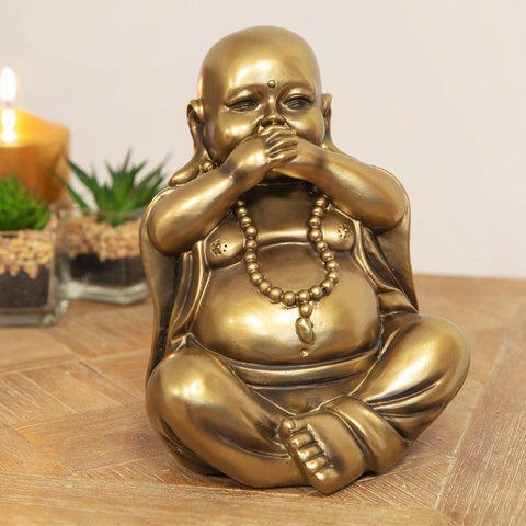 Bronze Buddha Figurine Speak No Evil