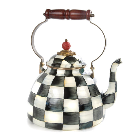 Courtly Check Enamel Tea Kettle - 2.8L