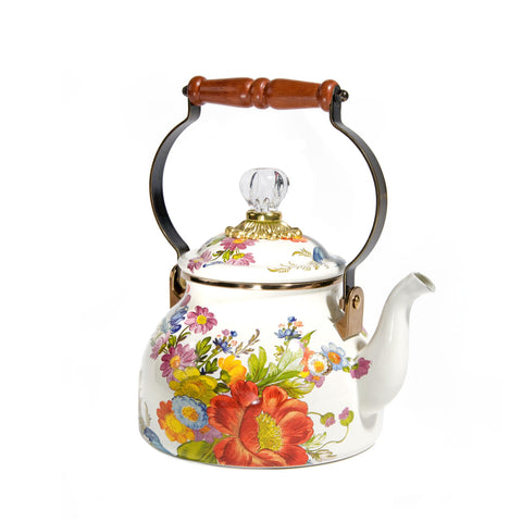 White Flower Market Tea Kettle - 1.8L