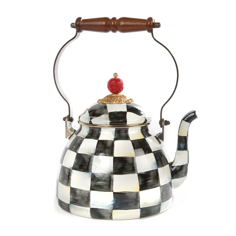 Courtly Check Enamel Tea Kettle - 1.8L