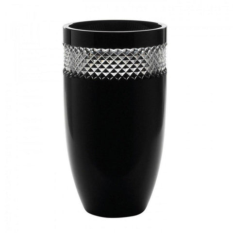 John Rocha Black Cut Vase 12""