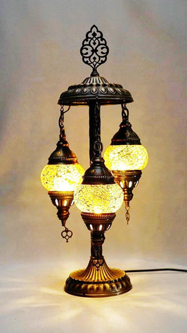 Table Standing Cascade Lamp - Amber