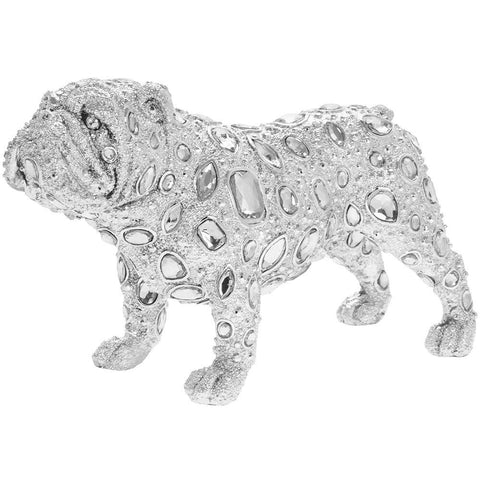 Silver Art - Diamante Bulldog Standing