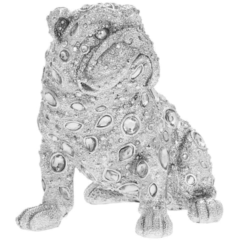 Silver Art - Diamante Bulldog Sitting