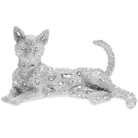 Silver Art Cat Laying