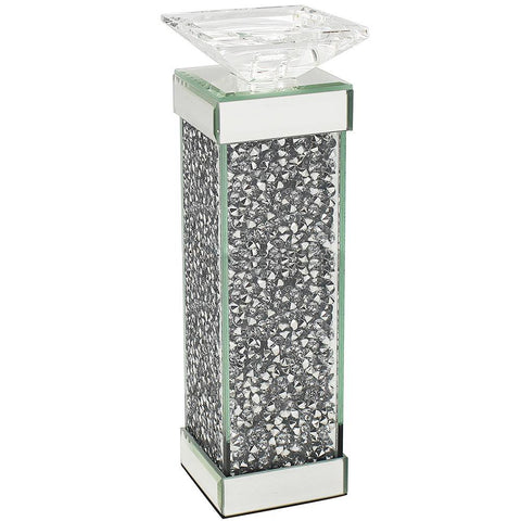 Crystal Clear Diamante Candle Holder