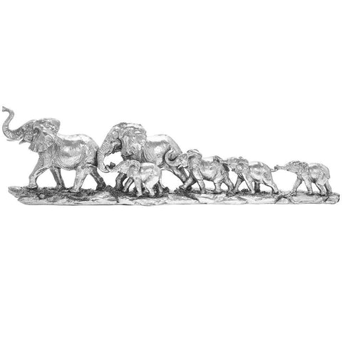 Silver Art - Elephant Train