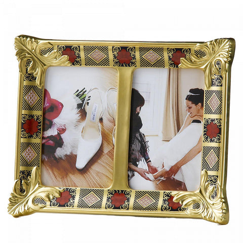 Old Imari Solid Gold Band - Double Photo Frame