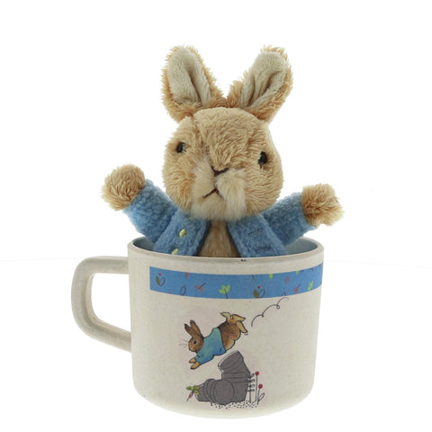 Peter Rabbit Bamboo Mug & Soft Toy Gift Set