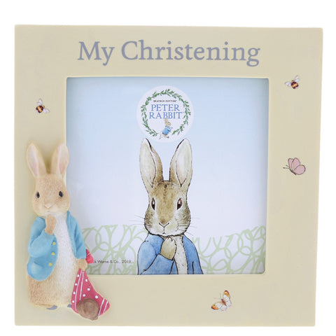 Peter Rabbit Christening Photo Frame