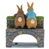 Peter & Benjamin Bunny on the Bridge Figurine