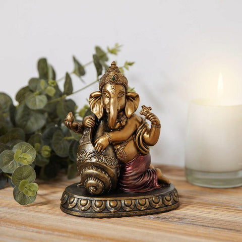 Ganesh Bronze Effect Figurine - Faith & Hope