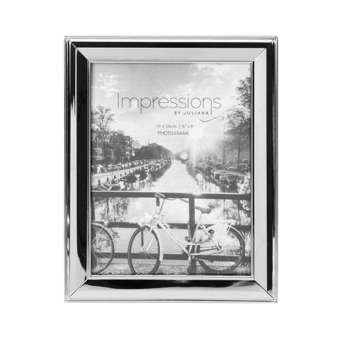 6x8 Nickel Plated Photo Frame