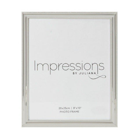 8x10 Silver Plated Bead Edge Photo Frame
