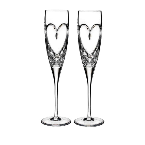 Waterford Love True Love Champagne Flute, Set of 2