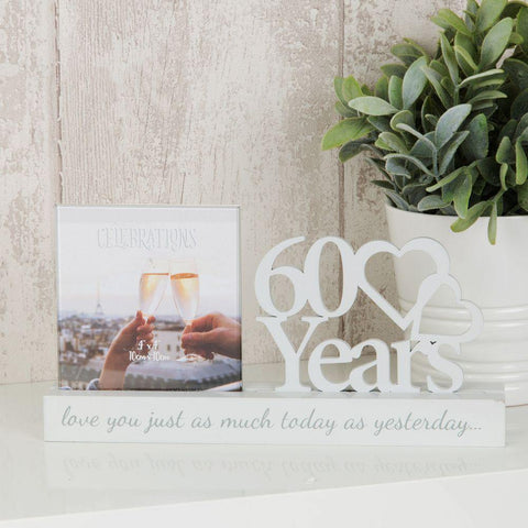 4x4 60th Anniversary Photo Frame