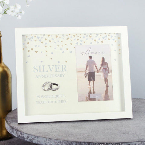4x6 Silver Anniversary Photo Frame