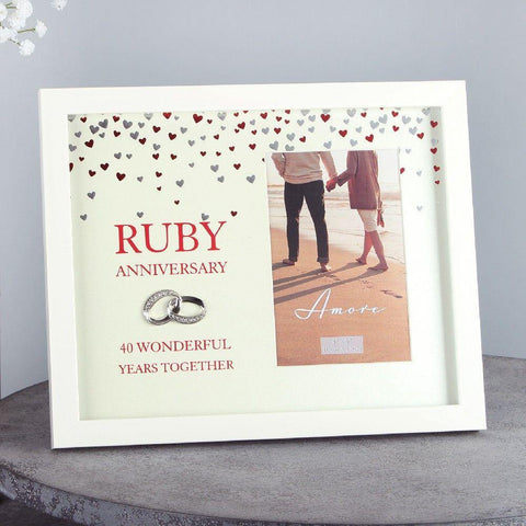 4x6 Ruby Anniversary Photp Frame Amore