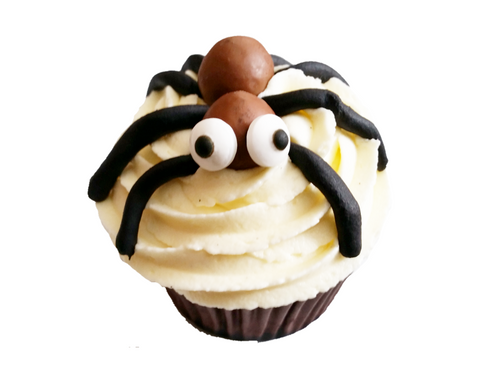 Togri Bakery Spooky Halloween Vanilla Cupcake With Boggly Eyed Spider