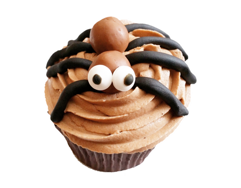 Togri Bakery Spooky Halloween Chocolate Cupcake With Boggly Eyed Spider