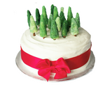 Royal Iced Christmas Fruit Cake From Your Local Togri Bakery with Marzipan Trees