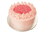 Pink Vanilla Buttercream Layer Cake