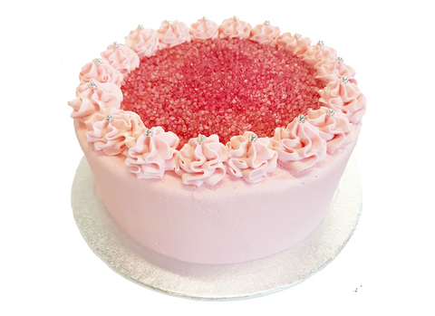 Strawberry Buttercream Layer Cake