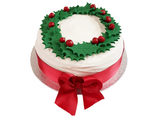 Royal Iced Traditional Christmas Fruit Cake With Holly Wreath