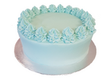 Blue Vanilla Buttercream Layer Cake