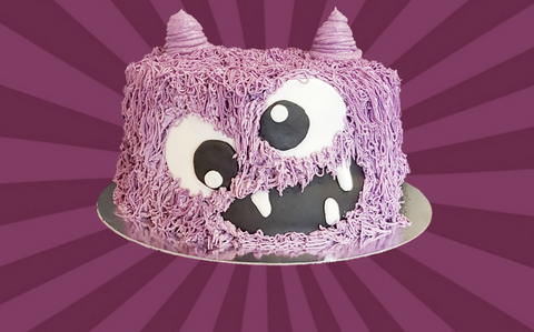 Purple Monster Cake