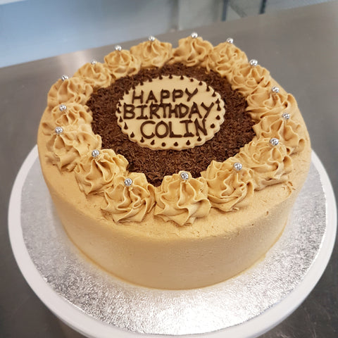 Magnificent Coffee Buttercream Layer Cake Birmingham Birthday Cake Togri Funny Birthday Cards Online Elaedamsfinfo