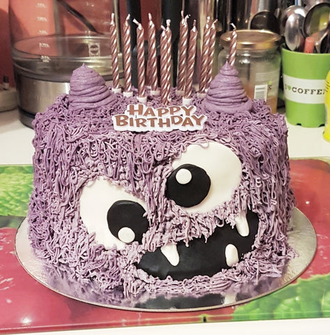 Marvelous Purple Monster Birthday Cake Made In Birmingham Great For Funny Birthday Cards Online Inifofree Goldxyz