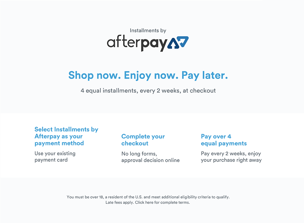 Afterpay Terms and Conditions