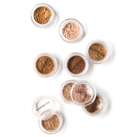 alima pure foundation samples
