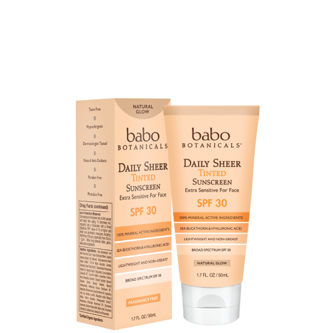 Sample - Daily Sheer Tinted Facial Mineral Sunscreen SPF 30 - Natural Glow