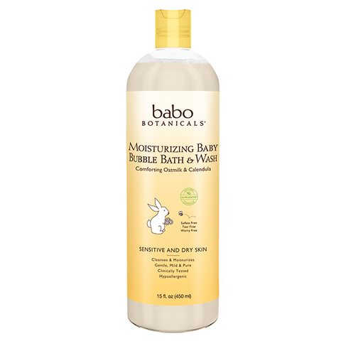 babo botanicals moisturizing bubble bath and wash