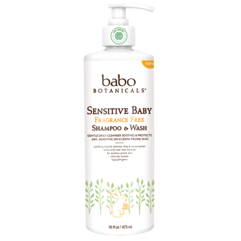 Babo Botanicals Sensitive Baby Fragrance Free Shampoo & Wash