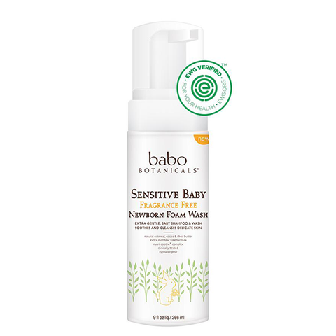 Sensitive Baby Fragrance Free Newborn Foam Shampoo & Wash