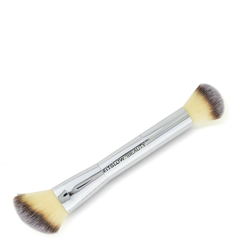 Fitglow teddy double cheek brush